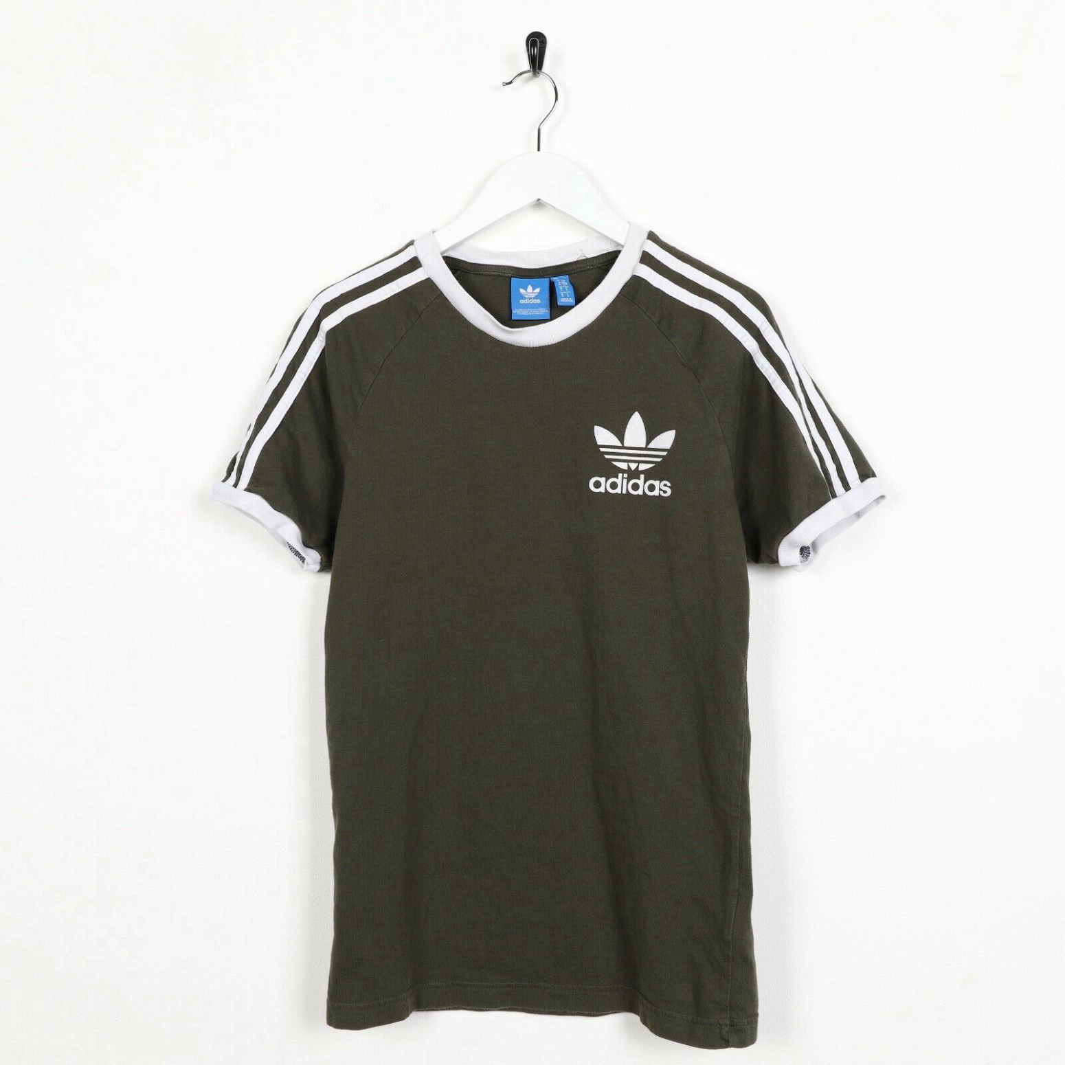 Unisex Vintage ADIDAS ORIGINALS Small Logo T Shirt Tee Green | Small S