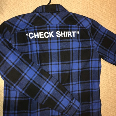 OFF-WHITE Padded Flannel Shirt Blue/Black
