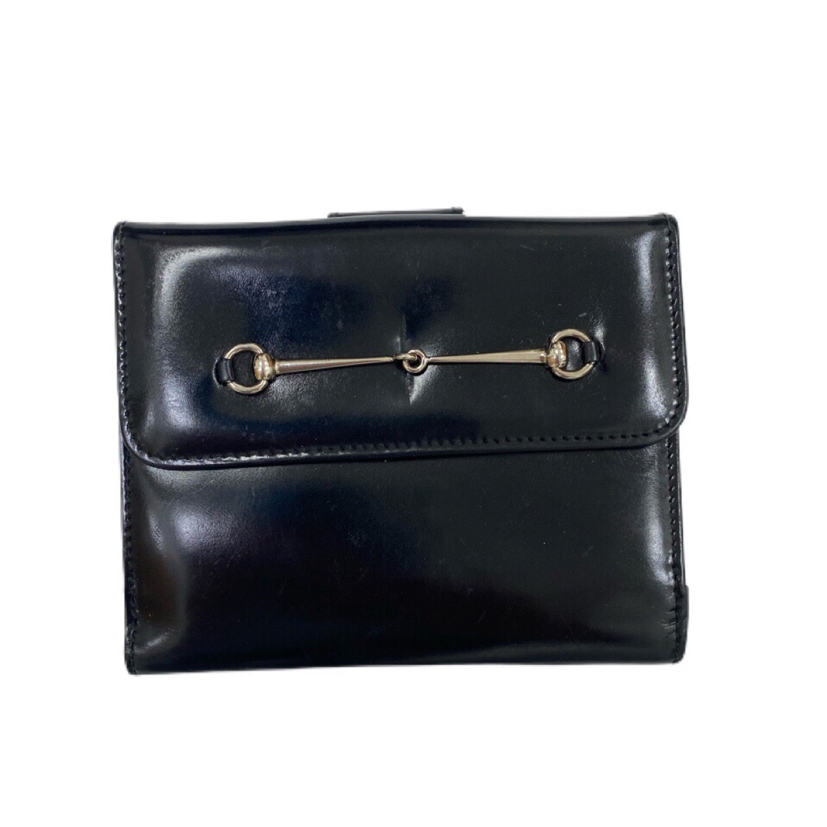 Gucci Black Patent Leather Wallet