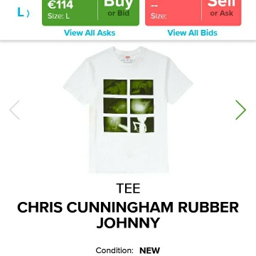 Supreme Chris Cunningham Rubber Johnny Tee