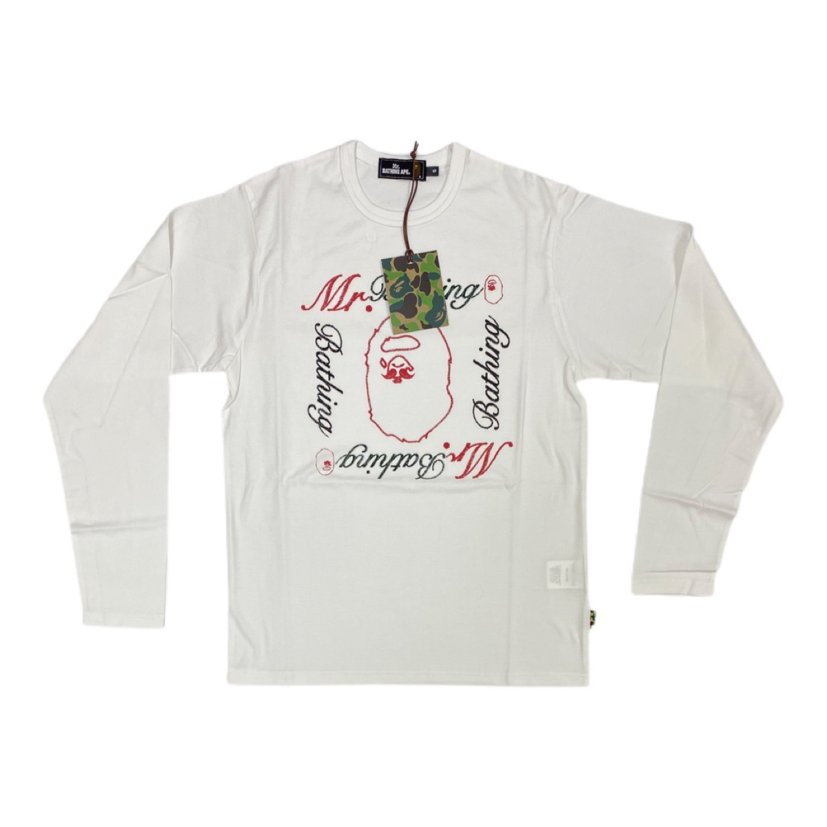 Authentic mr bathing ape white L/S tee