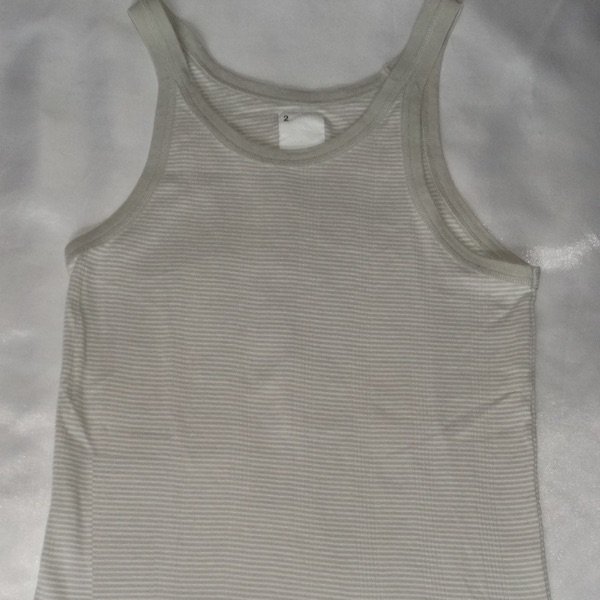 Neighborhood Stipped Grey Tank Top