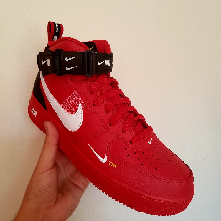 nike air force 1 mid utility rouge