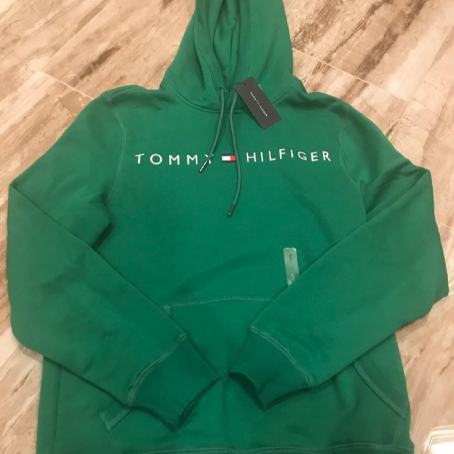 e41520c4c2a94 Tommy Hilfiger Forest Green Cashmere Like Hoodie