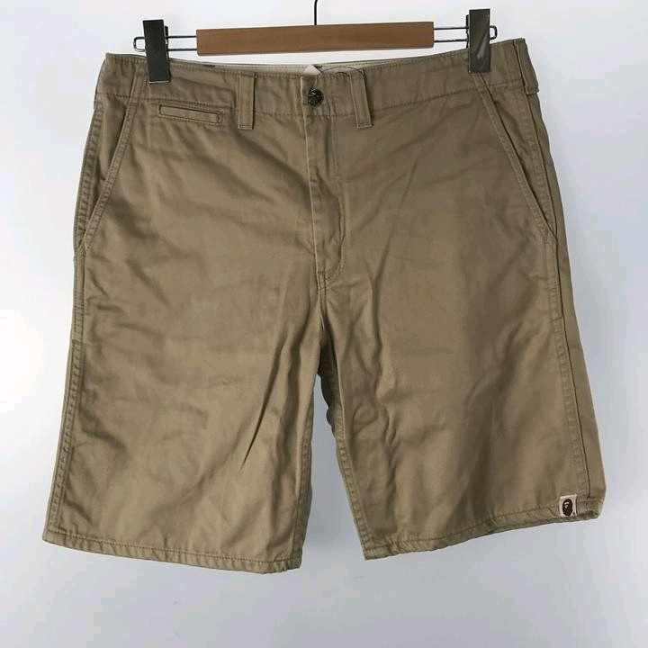 Shorts Beige 4 Pockets Zip Fly