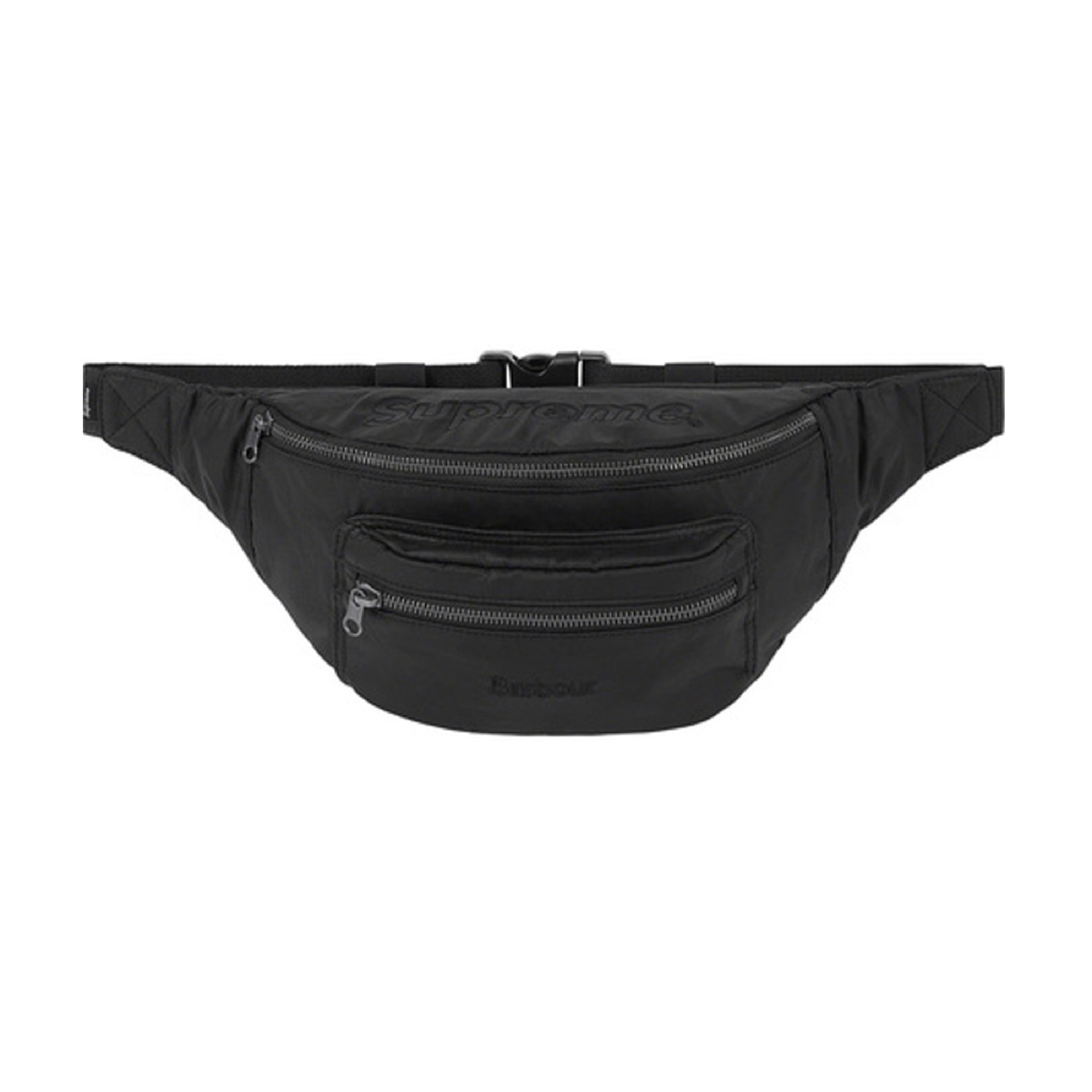 Supreme Barbour Waxed Cotton Waist Bag Black