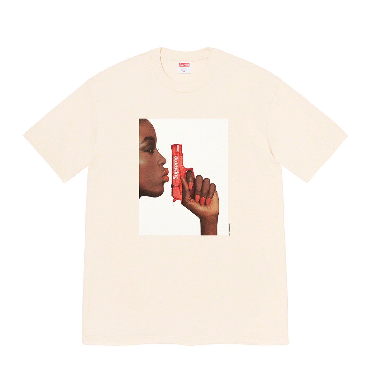 Supreme Water Pistol Tee Natural