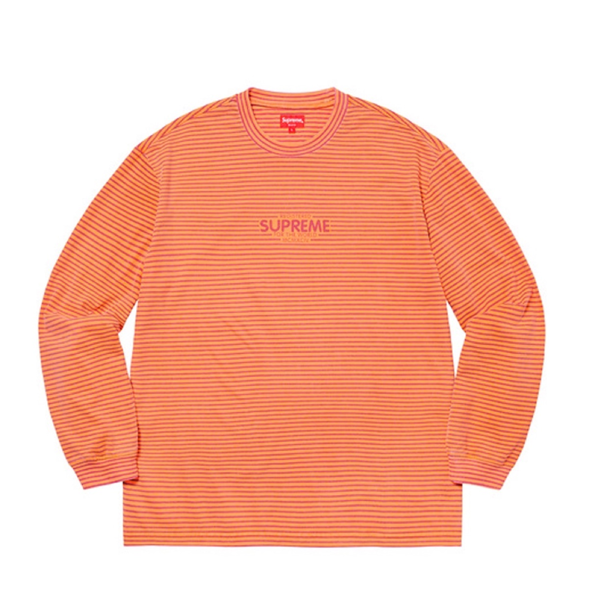 Supreme Micro Stripe LS Top Orange