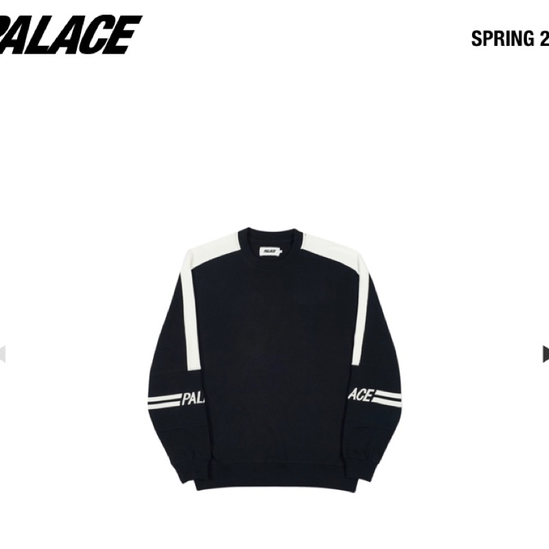 Palace 320 Crew Black/White (small)