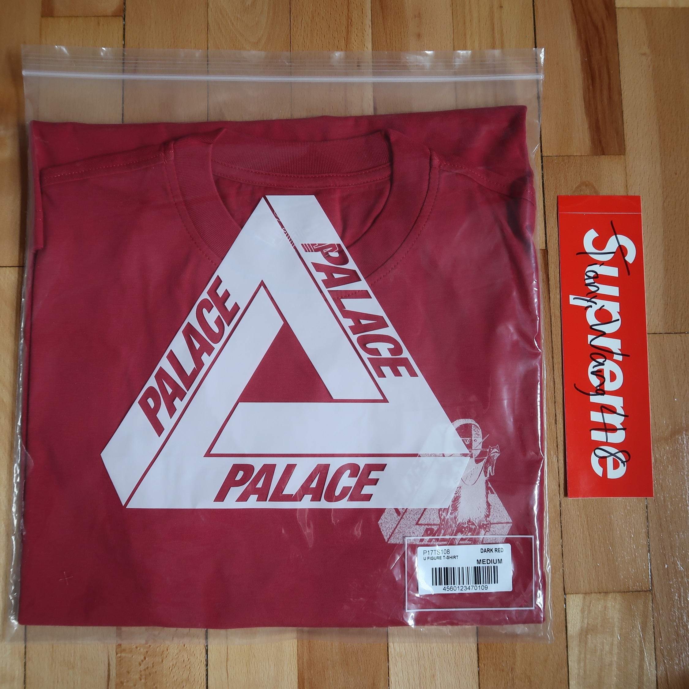 Palace U Figure Tri Ferg Tee Dark Red Medium