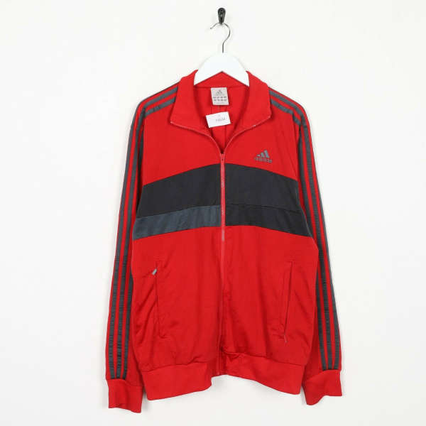 Vintage ADIDAS Small Logo Tracksuit Top Jacket Red | Large L
