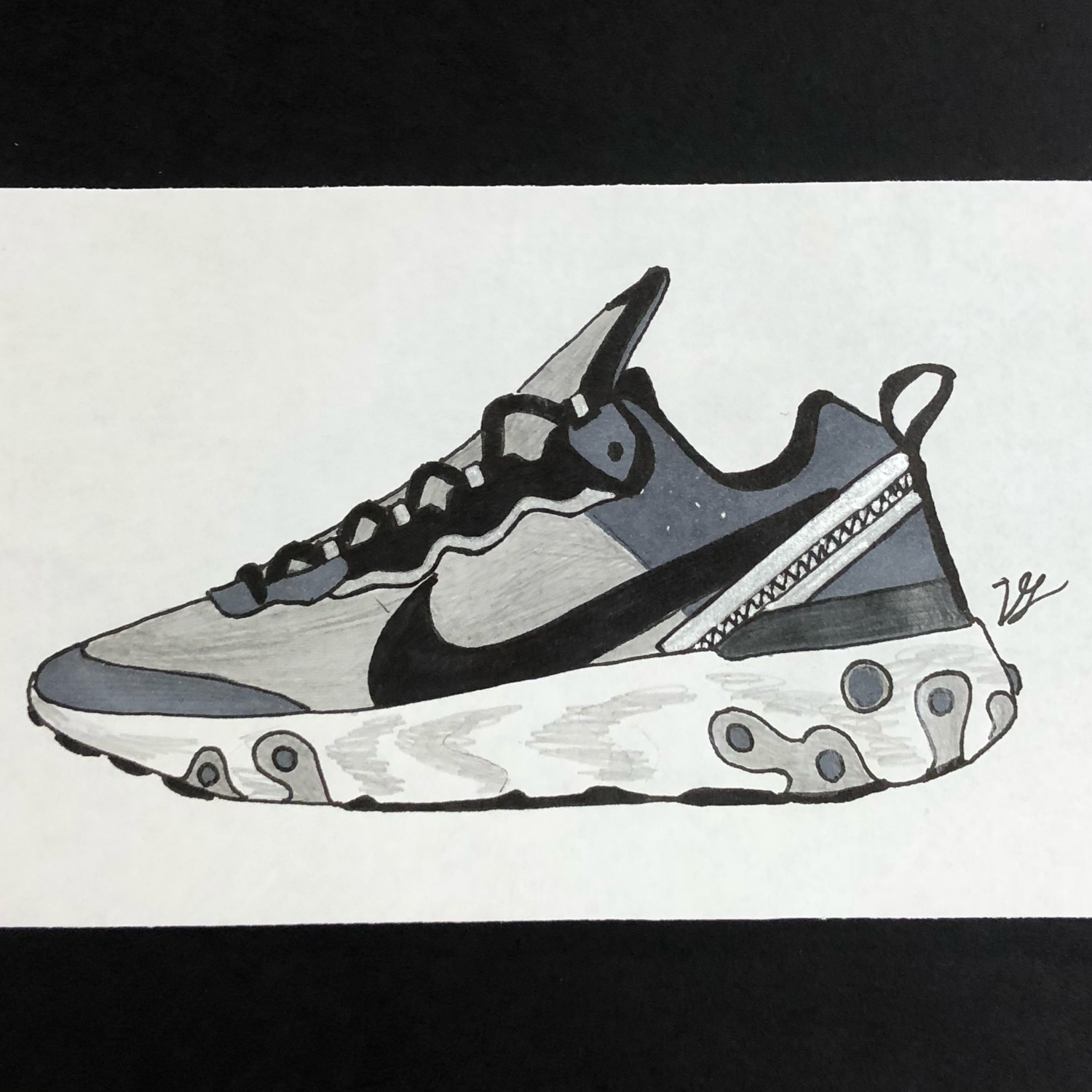 brand new 1d852 91895 3 Portraits: Nike React Element 87, Unc Off White