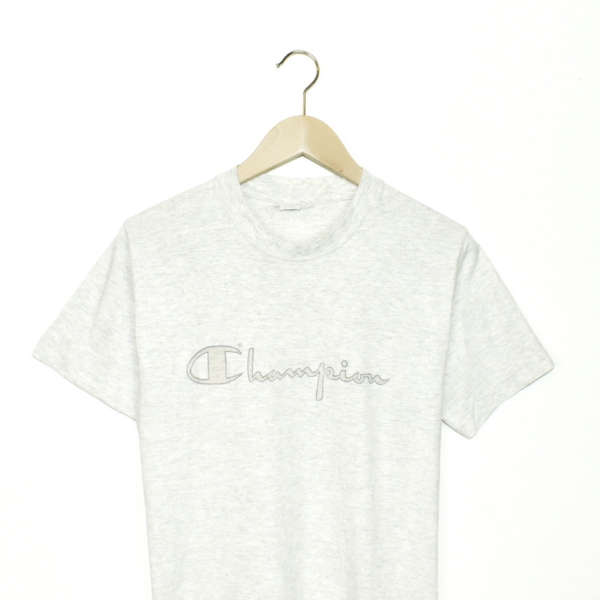 Vintage Champion t-shirt top blouse tee in light grey