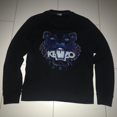 Kenzo Jumper Mens Black And Blue