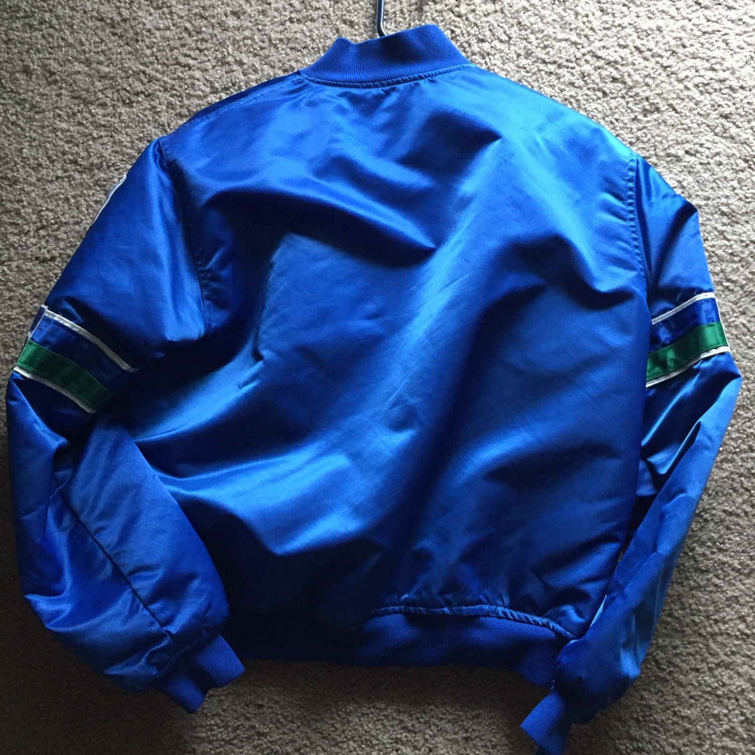 low priced 952a8 d8306 Seattle Seahawks 80'S Satin Starter Jacket