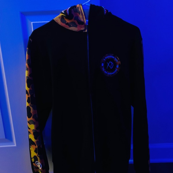 BAPE x XO Shark Zip Up Hoodie Black
