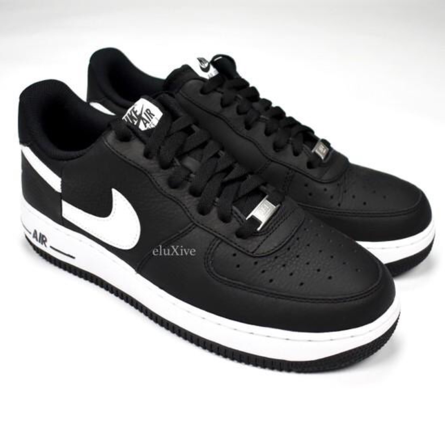 newest b0489 96205 Supreme X Nike Air Force 1 Cdg Black Split Logo Ds