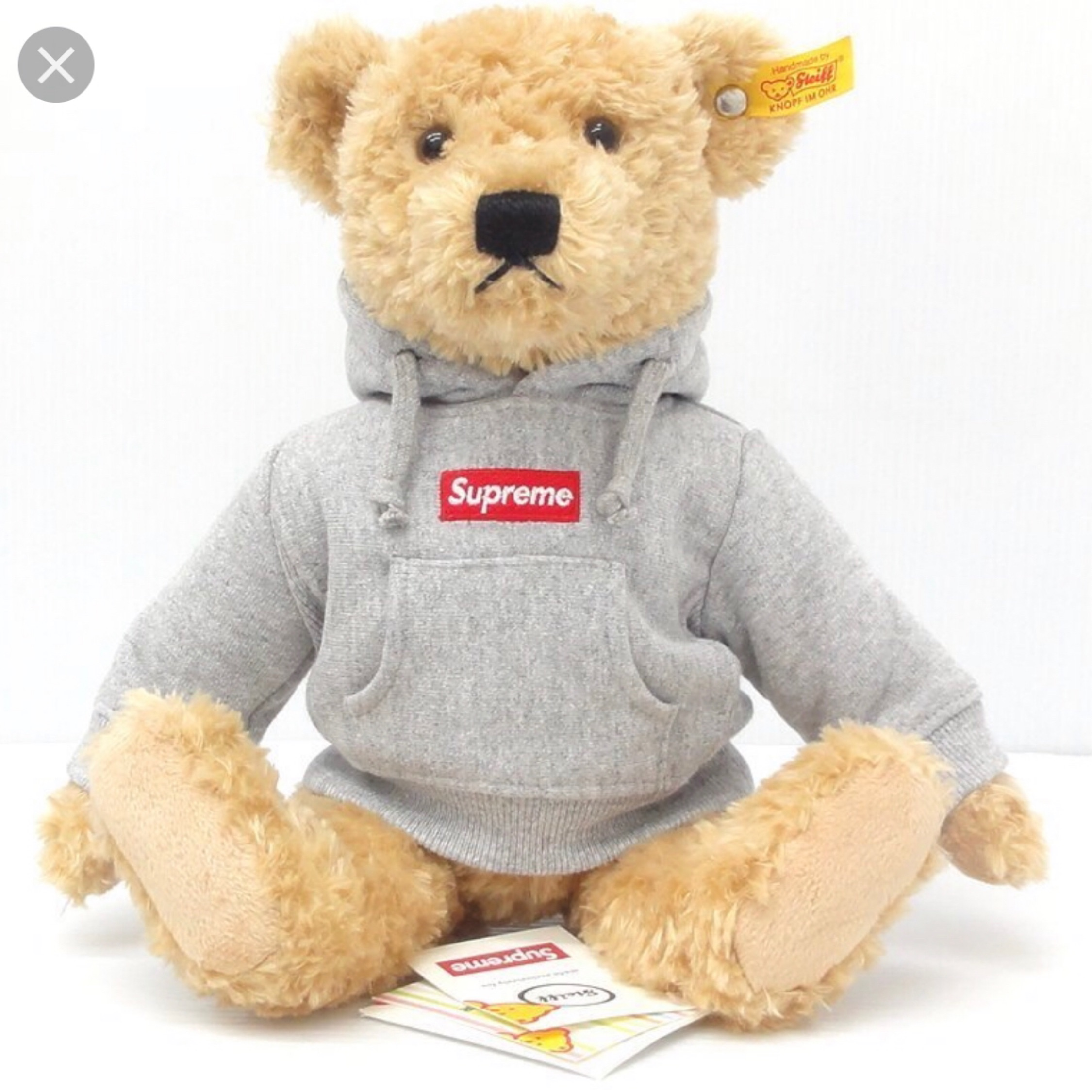 Heather Grey Supreme X Steiff Bear