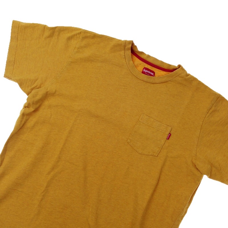 Supreme Yellow Pocket T Shirt