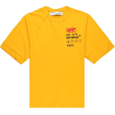 OFF-WHITE Industrial Y013 T-Shirt Yellow/Multicolor