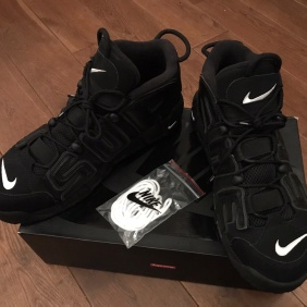 Ss17 Supreme X Nike Air More Uptempo Black Suptempo