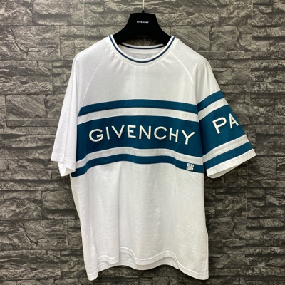 Mens Givenchy Paris Logo Slim Fit T-Shirt - White