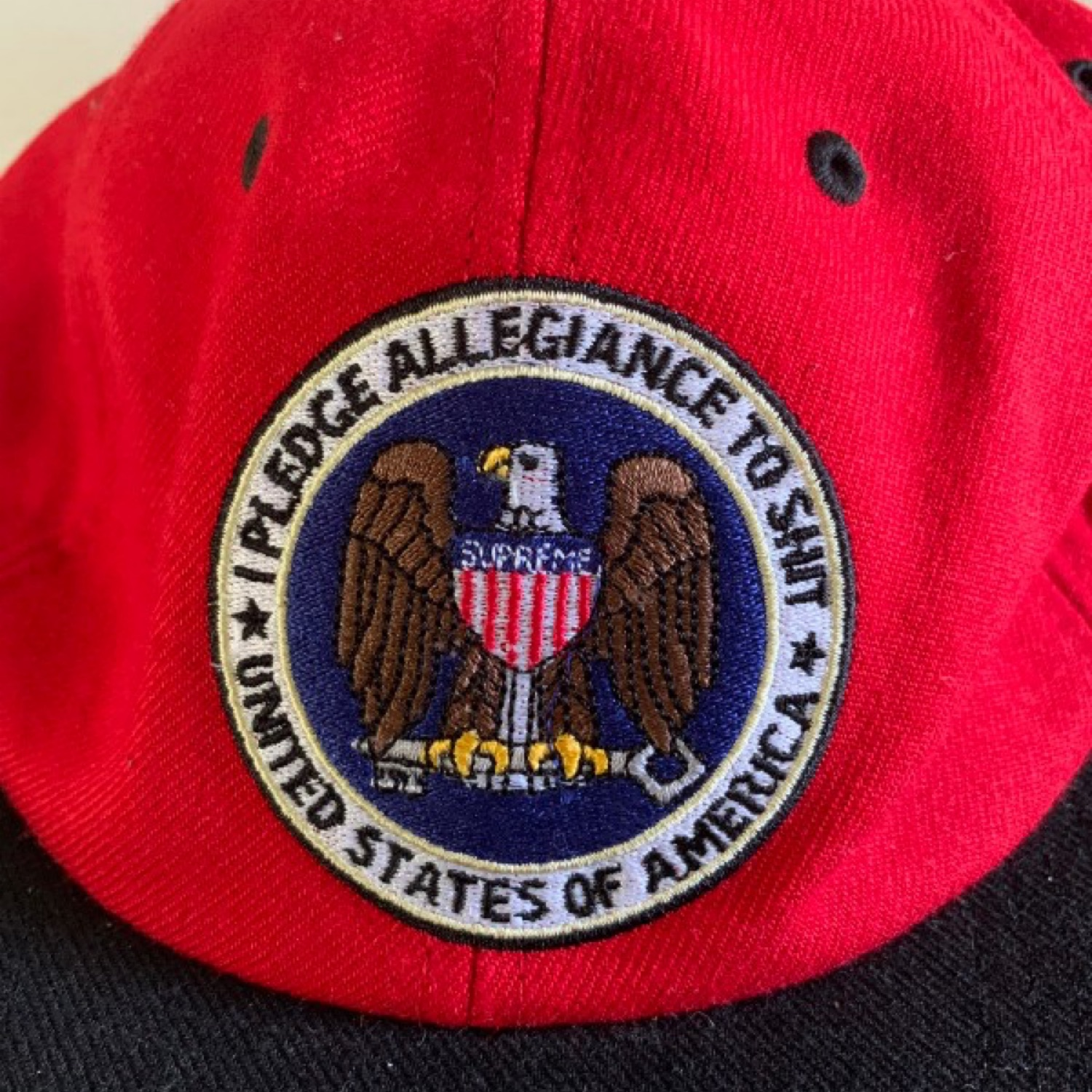 Supreme Pledge Alliance To Shit 6 Panel Cap