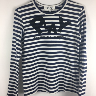 Womens Cdg Striped Play Long Sleeve