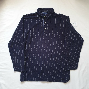 Tommy Hilfiger Blue And White Striped Rugby Top