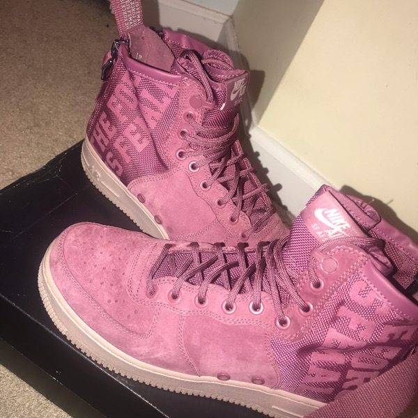 Vintage Wine Women Air Force One High Tops
