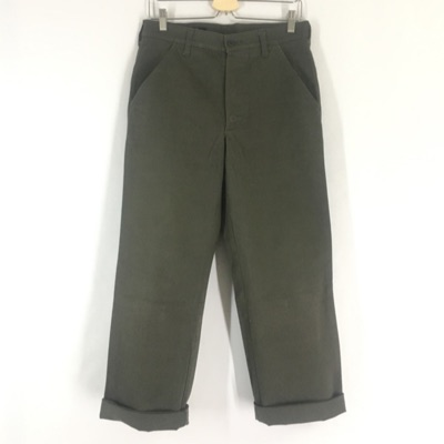 Cabane De Zucca Green Military Heavy Cotton Pants