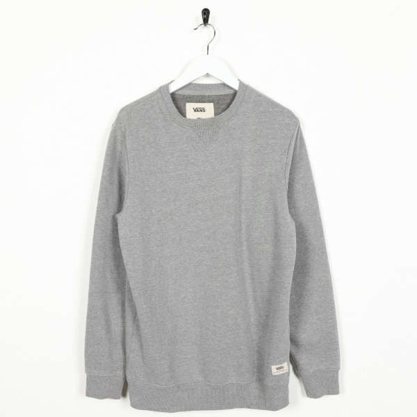 Vintage VANS Small Logo Sweatshirt Jumper Grey | Small S