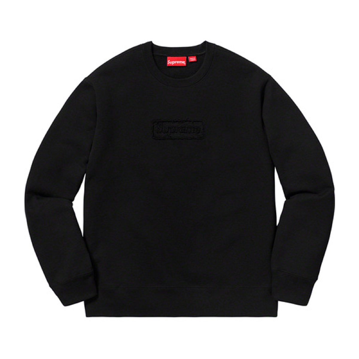 Supreme Cutout Logo Crewneck Black