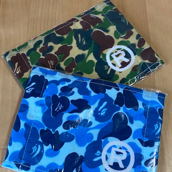 BAPE ABC Camo Face Mask Blue
