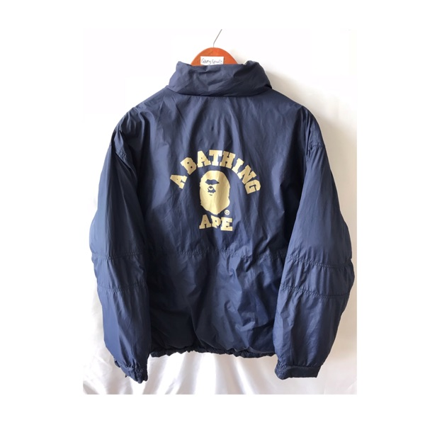 Vintage Bape Reversible Winter Jacket Big Logo Ape
