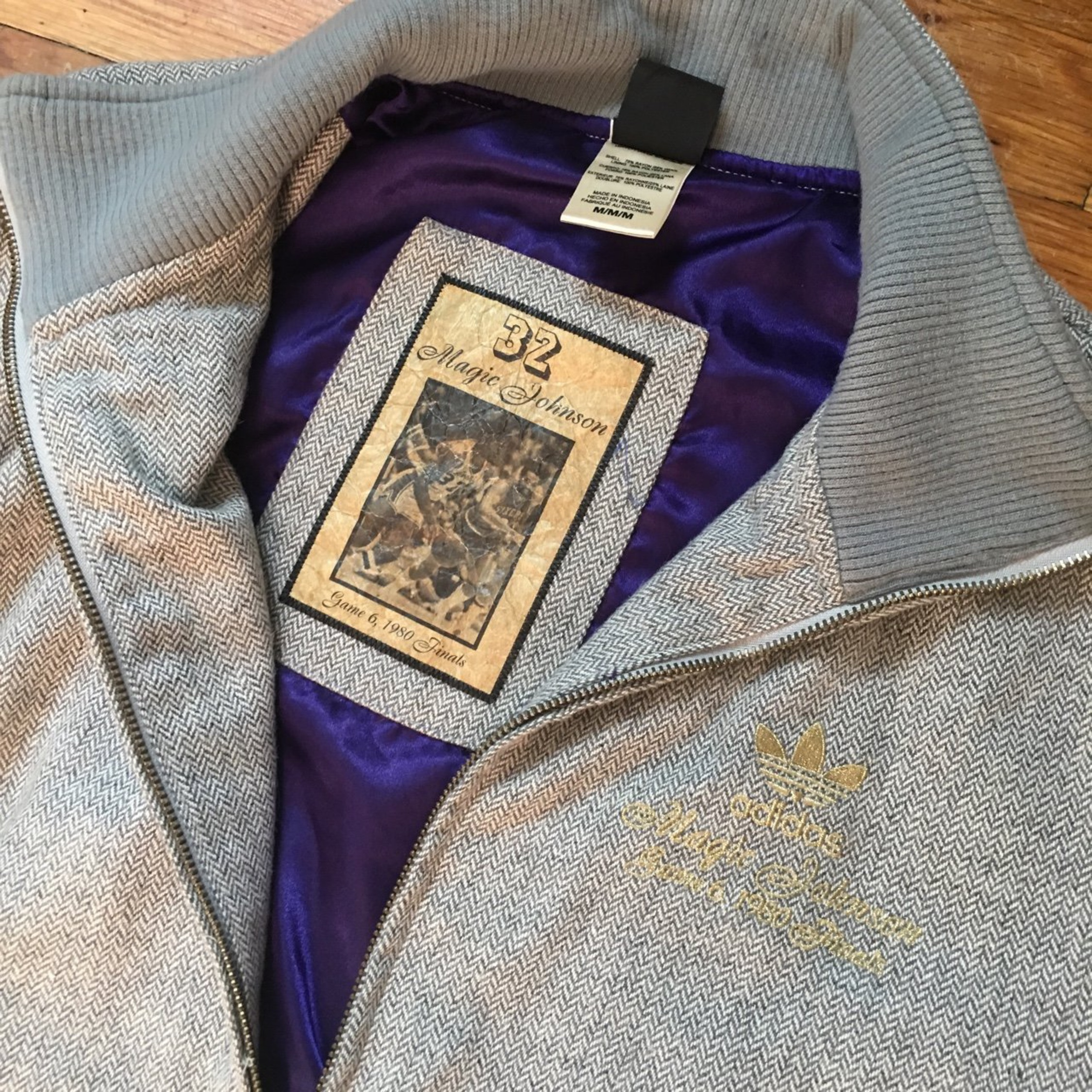 san francisco c5031 c759f Adidas Magic Johnson Wool Jacket
