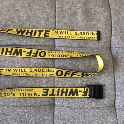 OFF-WHITE Industrial Belt (SS19) Fluo Yellow