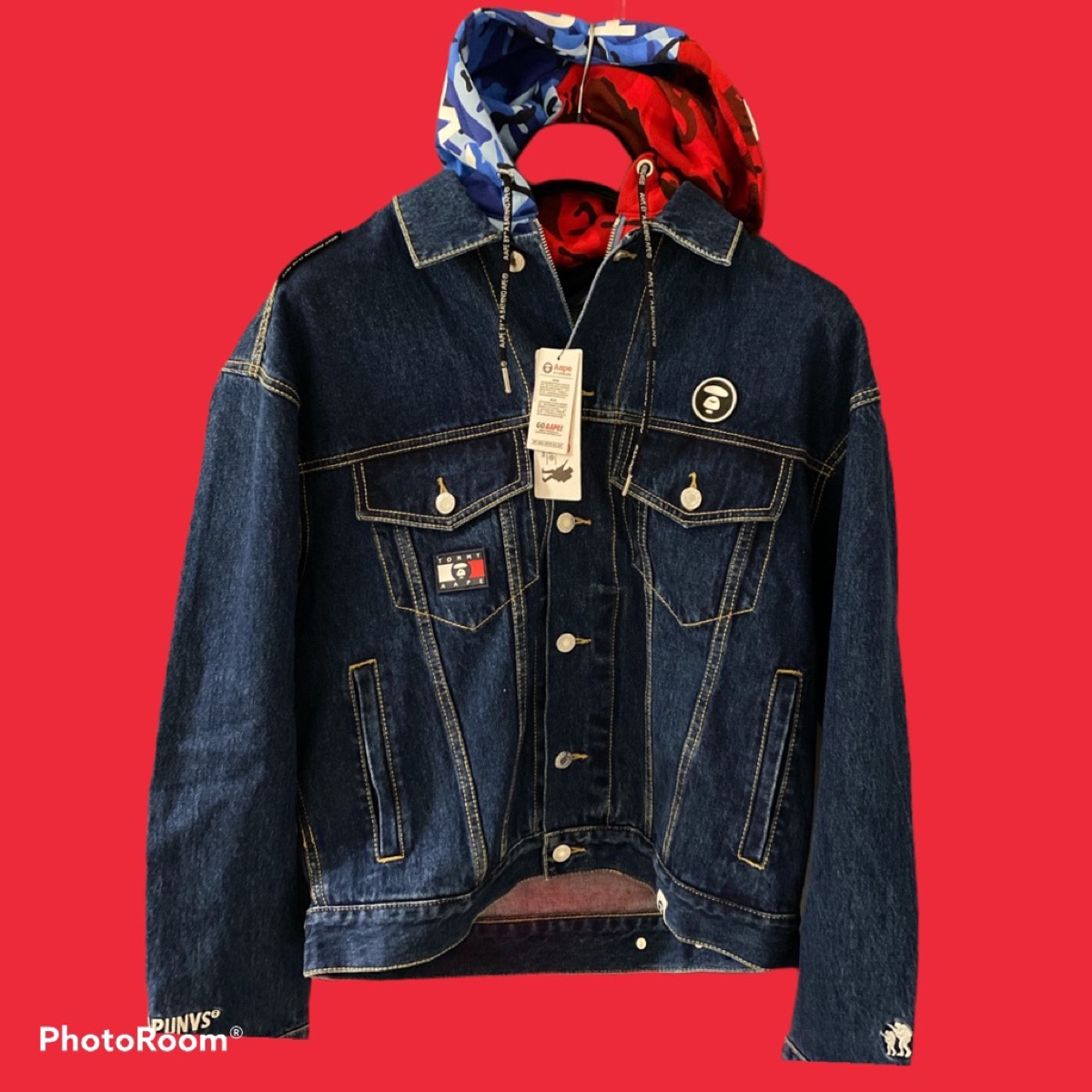 Tommy Hilfinger Jeans X AAPE Hooded DenimJacket