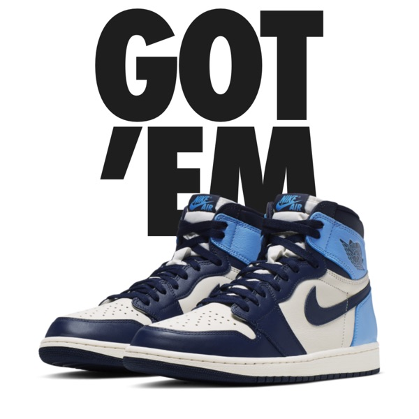 Air Jordan 1 High Og Unc/Obsidian
