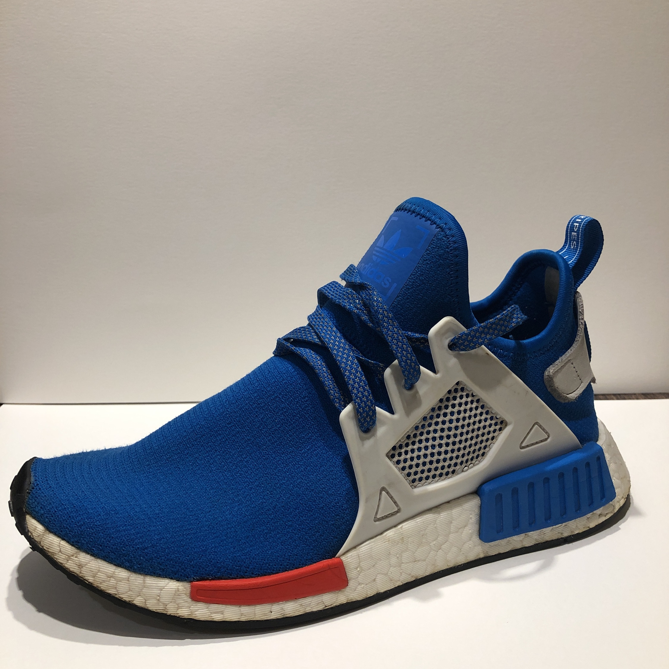 brand new 4884a 9f32b Adidas Nmd Xr1 Blue White Red