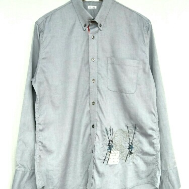 Long Sleeve Embroidery Tiger by Thom Browne Button Down Shirt