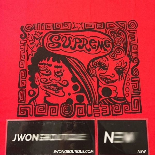 Supreme Faces T Shirt Red New Medium