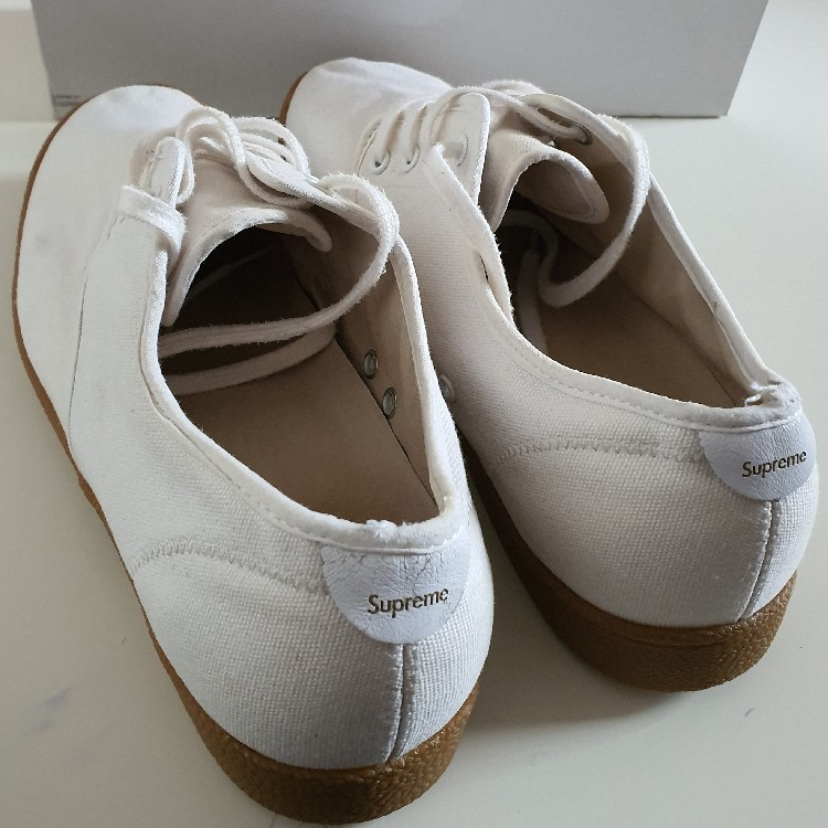 SS09 Supreme Canvas house white shoes US 10
