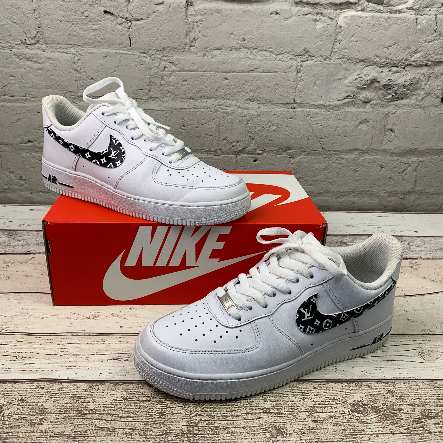 factory price e8756 db18a Nike Air Force 1 Custom Louis Size Uk 8.5