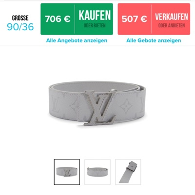 Louis Vuitton Initiales 40Mm Reversible Belt White