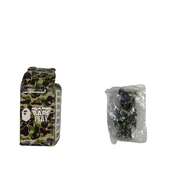 Bape Green Camo Bearbrick 100%