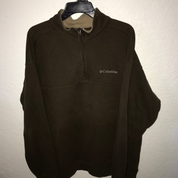 Vintage Columbia Quarter Fleece Zip Pullover Jacke