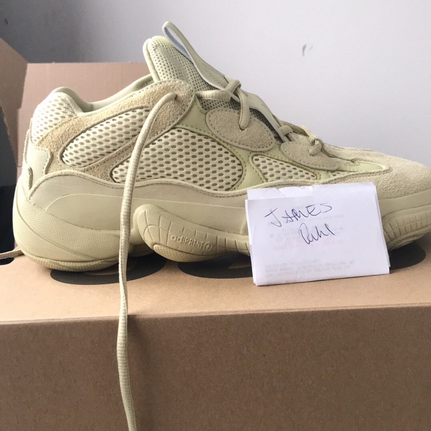 cheap for discount d6b6a 48fa6 Yeezy 500 Super Moon Yellow Uk 9.5