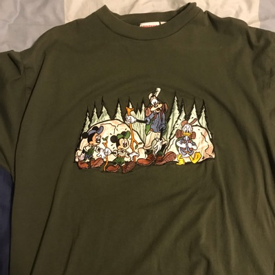 Disney Camping Embroidered Shirt L/Xl