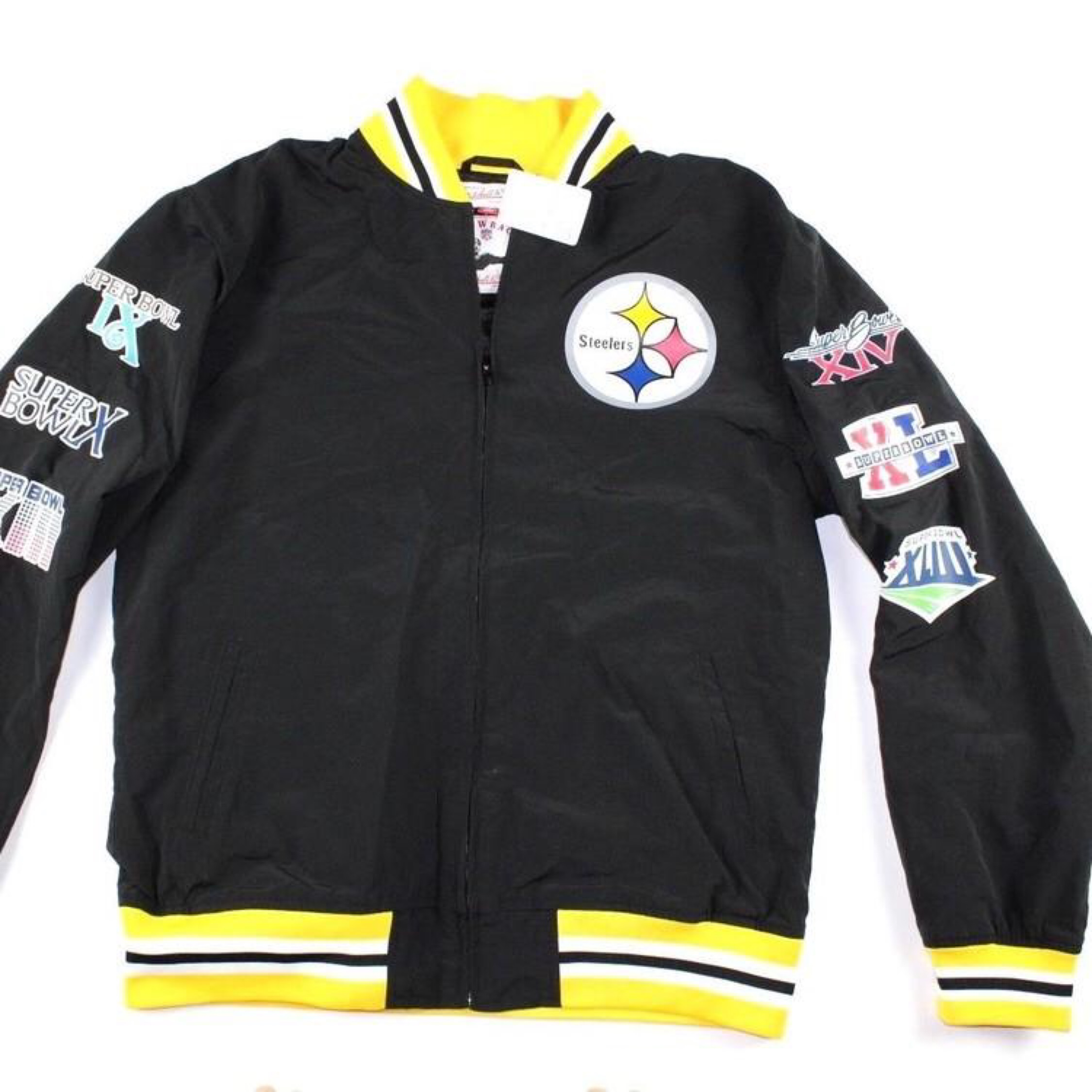 detailed look eca0a 1ca80 Mitchell & Ness Pittsburgh Steelers Jacket